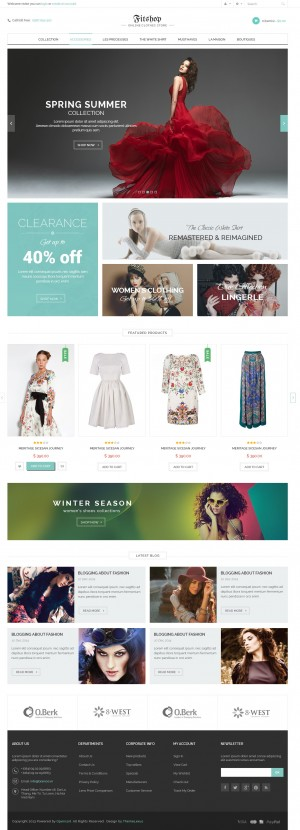 Fitshop is a #Woocommerce Responsive #WordPress #Template suitable for any kind of Mobile #Shop, ...