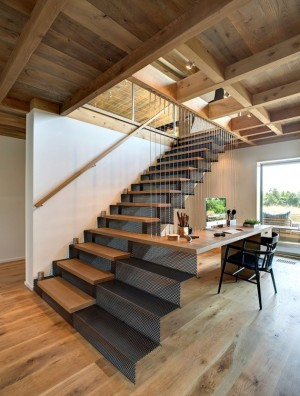 stairs + desk combo in a Hamptons beach house