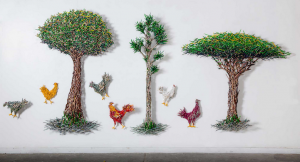 Sculptures Constructed with Pencils