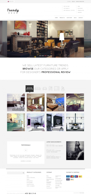 Trendy Room is a simple, clean and professional WordPress theme for eCommerce websites. Having a ...