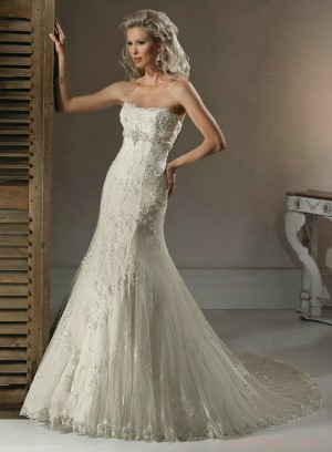 wedding Photo – style 338.00 bridal gown – Style Maggie Sottero Doreen Strapless A-L ...