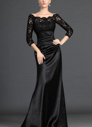 Modest Long Sleeves Formal Gown