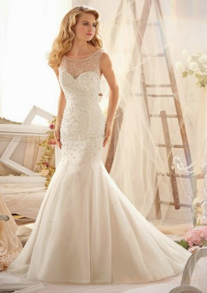 wedding Photo – style 319.00 mori lee 2624 Sparkling Allover Beading on Net For you,Dress ...