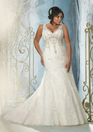 wedding Photo – style 354.00 mori lee 3148 Beaded Embroidery on Alencon Lace For you,Breat ...