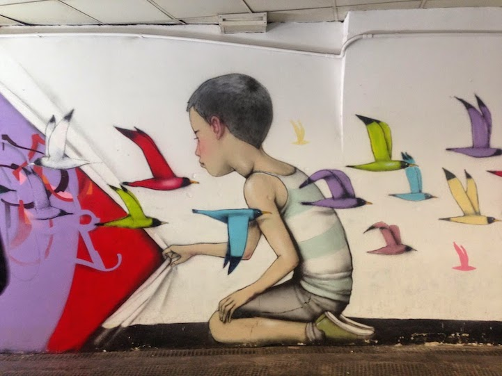 New Whimsical and Colorful Murals by Seth Globepainter
