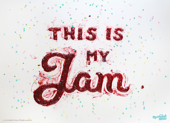 Food type by Marmalade Bleue. A raspberry for playful husband-wife duo, The Wonder Jam.