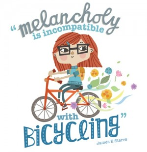 Melancholy is Incompatible with Cycling Print