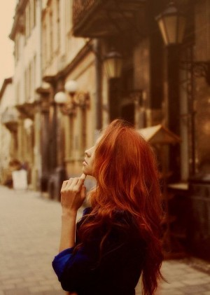 red hair photography