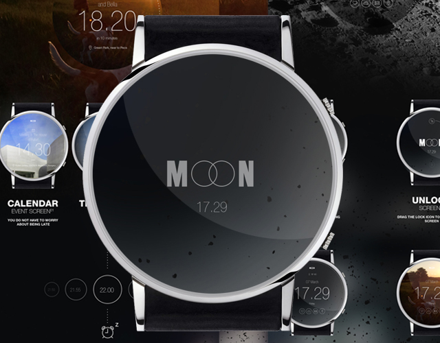 My personal project MOON is a smart watch for android or IOS funcional concept.for more visit ...