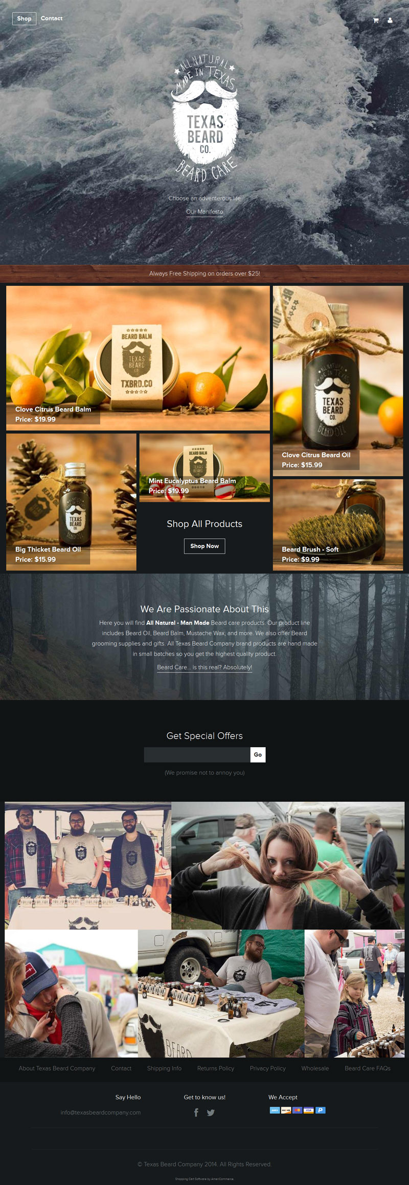 Texas Beard Company – Flat Design