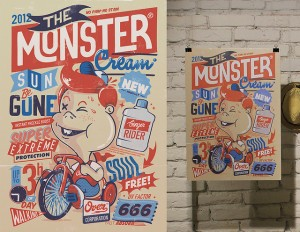 """The Monster Cream – A poster design for the """"Monsters Battle"""""""