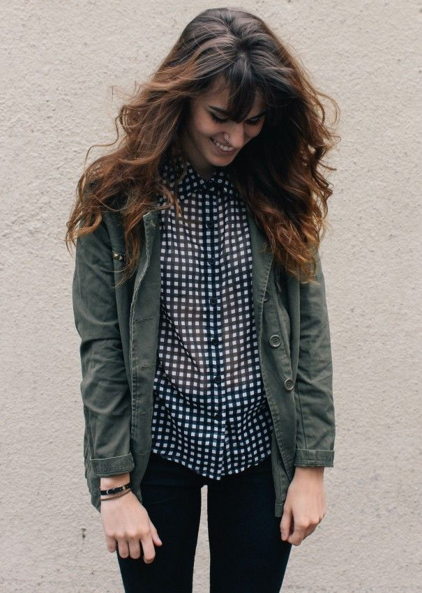 Black Jeans with Graysih Jacket