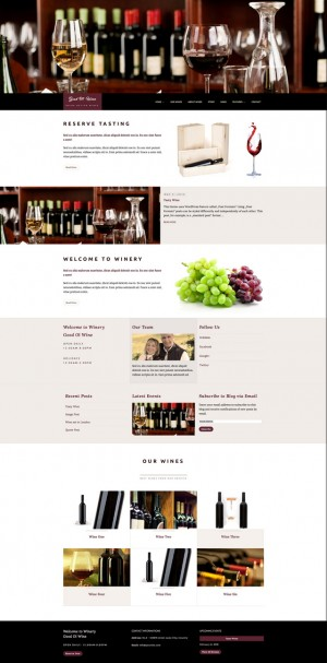 """Good Ol' Wine"" is a beautiful responsive WordPress Theme perfectly suited for wine enthusiasts  ..."