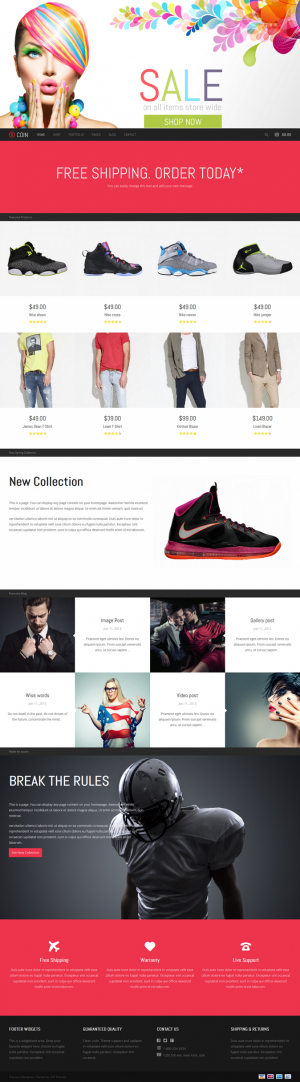 Coin is a Responsive Multipurpose WordPress Theme. You can create online shop, personal portfoli ...
