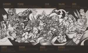 Behance :: Mythologic wall by DZO Olivier
