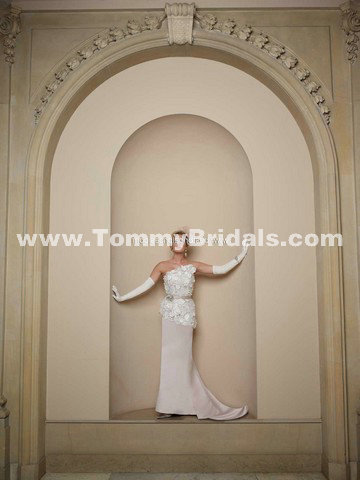 Only style 318.00 – discount David Tutera Bette 211258 A-Line Halter Strapless Lace And Sa ...