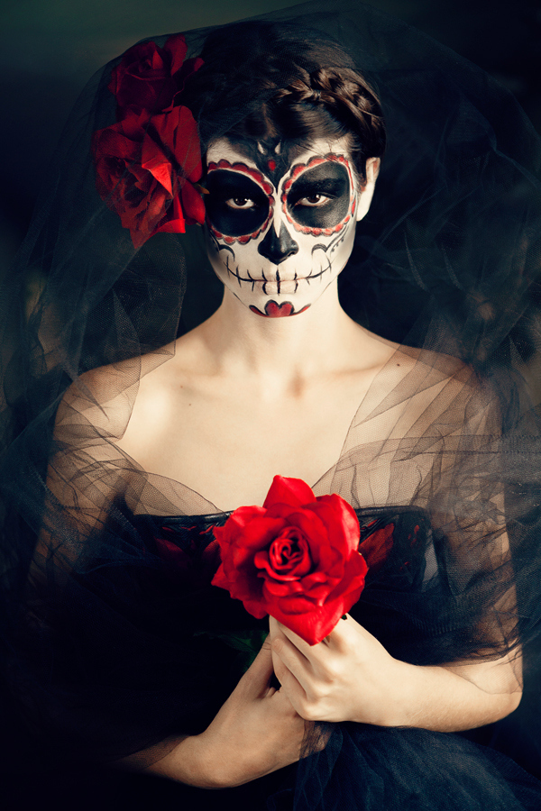 """Day of the Dead Catrina for """"Under the Volcano"""" cover on Behance"""