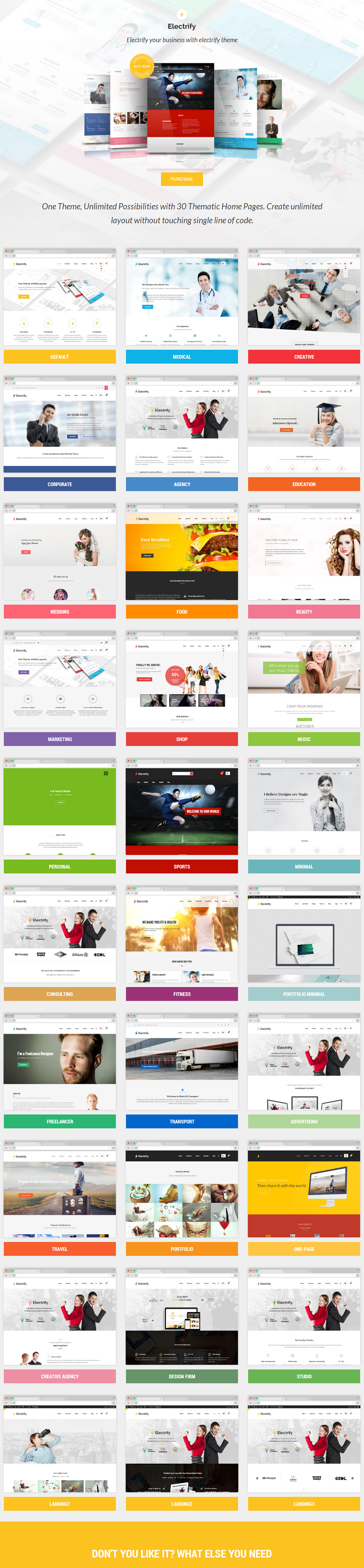 Electrify is a Multipurpose WordPress theme which going to electrify all of you. Create websites ...