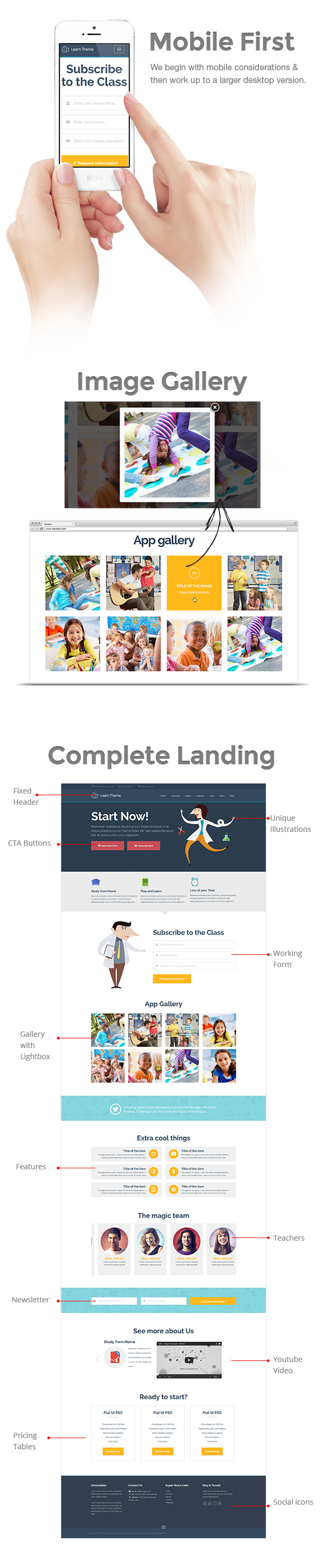 Learn is a One Page Template. It is the best theme for School, University, College or even your ...