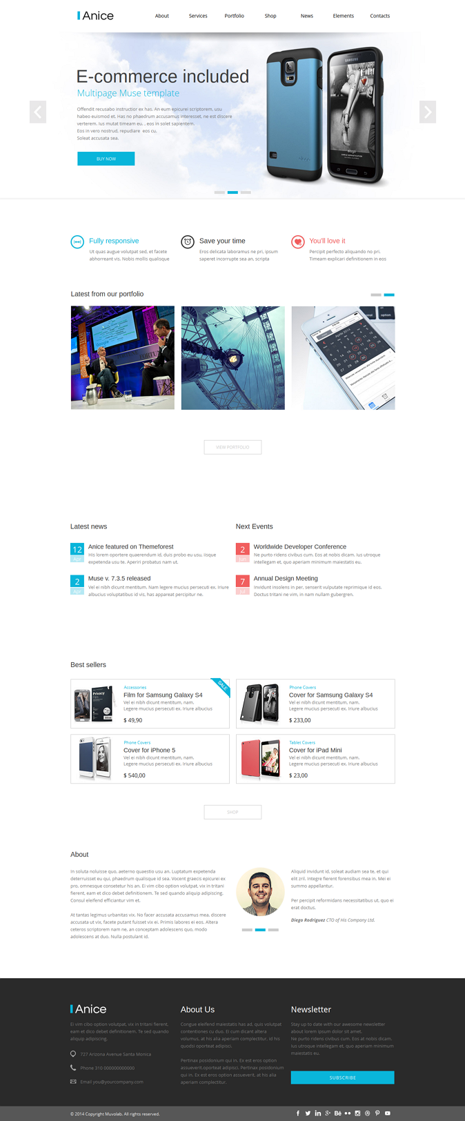 Anice is a Muse Template designed for a multipurpose use.