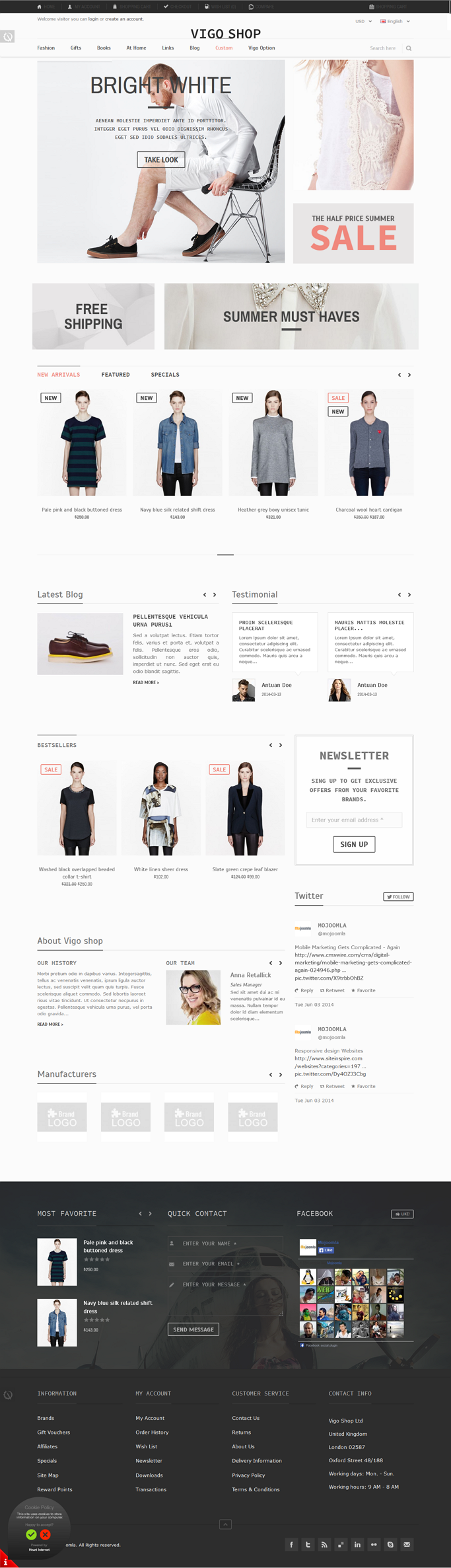 Vigo Shop is a Premium Responsive opencart theme with advanced admin module. It's extremely cust ...