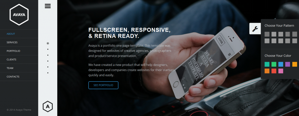 Avaya is a fullscreen portfolio template. This template was designed for websites of creative ag ...