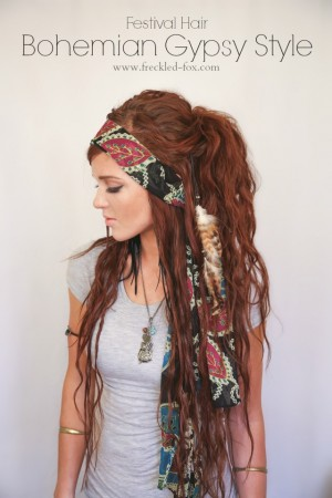 The Freckled Fox : Festival Hair Week: Bohemian Gypsy Style