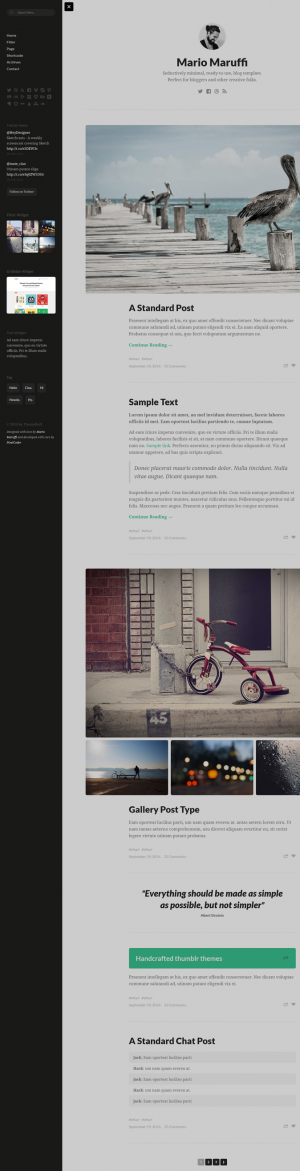 PERSONA is a seductively minimal, ready-to-use, HTML Template. A perfect solution for writers, p ...