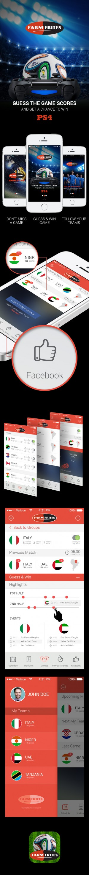 This an app for the world cup 2014, where you are able to sign in using your Facebook account to ...