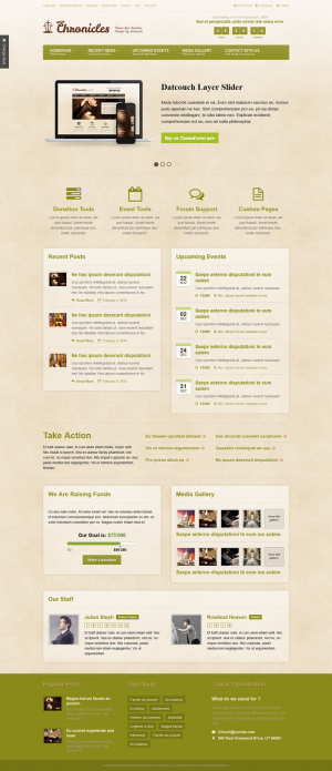 #webdesign #non-profit #org Chronicles #Church & Donation HTML Template ->
