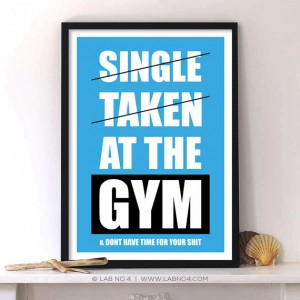 Single Taken at the Gym Motivational Fitness by Lab No. 4