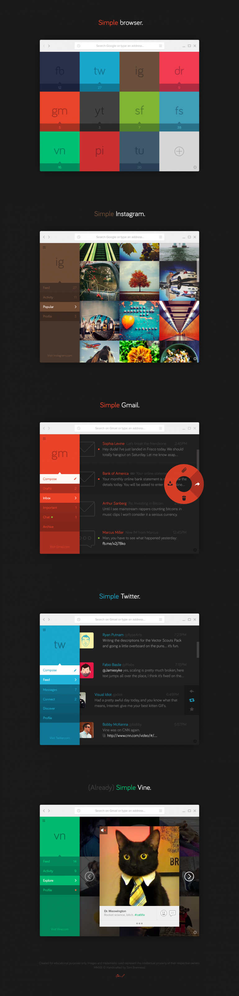 Simple Browser (Concept) by Tom Brennessl