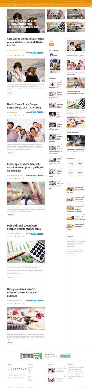 Fully Responsive layout, outstanding design, Sparkle is based on Bootstrap Framework with built- ...