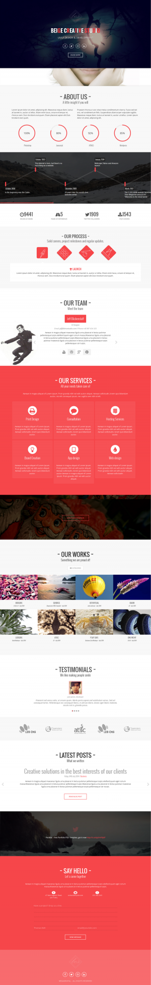 Beige Creative Studio is a professional and responsive one page multipurpose template enhanced w ...
