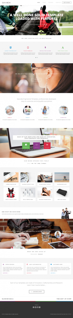 Gamboa is a newbie friendly template, that offers 4 different slider options, unlimited possibil ...