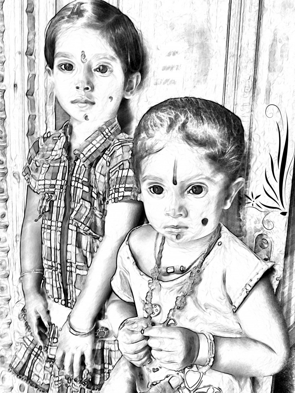 Photoshop work of two cuties
