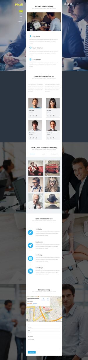 Pixxli studios is an EyeCandy professional Multipurpose one page fully customizable adobe muse t ...