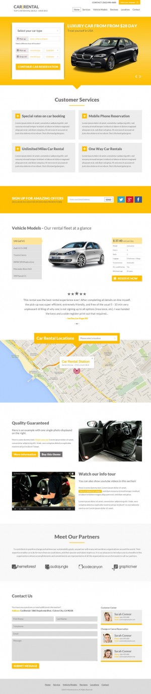 Car Rental is a single fully responsive HTML5 theme. This Theme is the perfect for people who ar ...