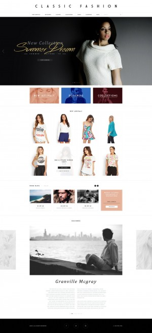 Minimal, modern and clean template for photographers and creatives to show their portfolio. With ...