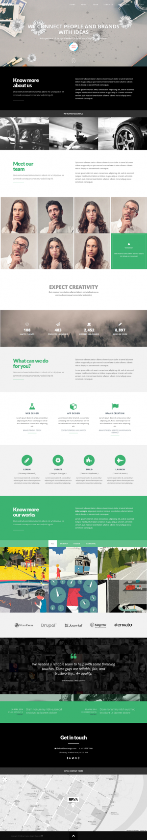 BIRVA One Page Theme is a vibrant, responsive one page parallax theme built on the Bootstrap 3 f ...
