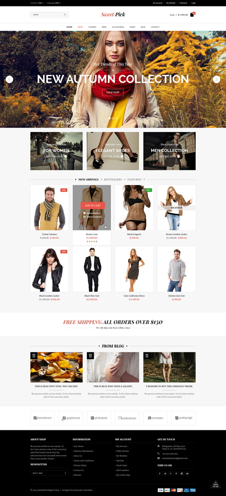 Sweet Pick is a clean and modern eCommerce Shop template. It's a great choice, if you want to la ...