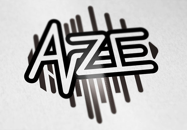 """AZE"" Logo Design for a rock/electro band"