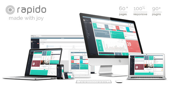 Rapido is and responsive Admin Template and tool designed by Clip-Theme to fulfill every possibl ...