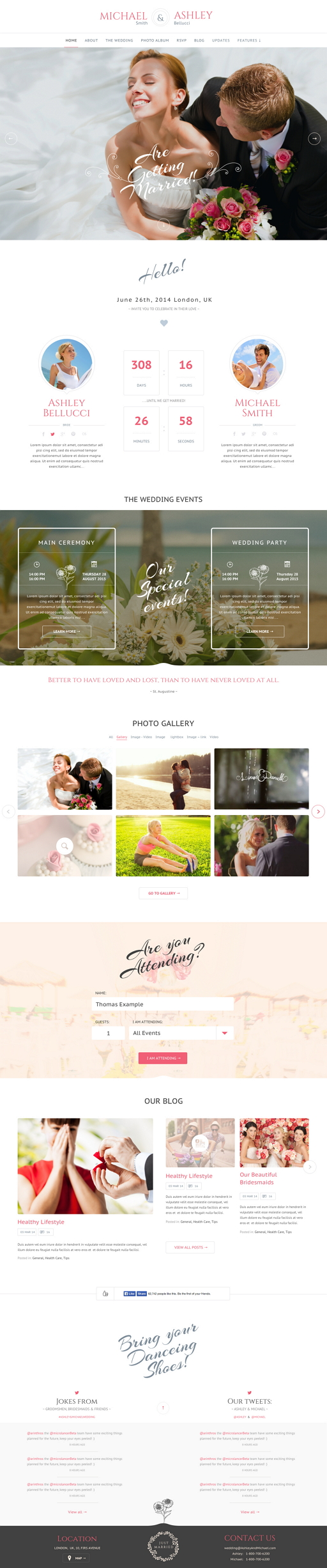Honeymoon is a lovely, responsive wedding theme. It is perfect for your wedding event. It comes ...
