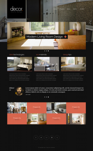 Decor is responsive website template with unique design build with latest Bootstrap framework. T ...