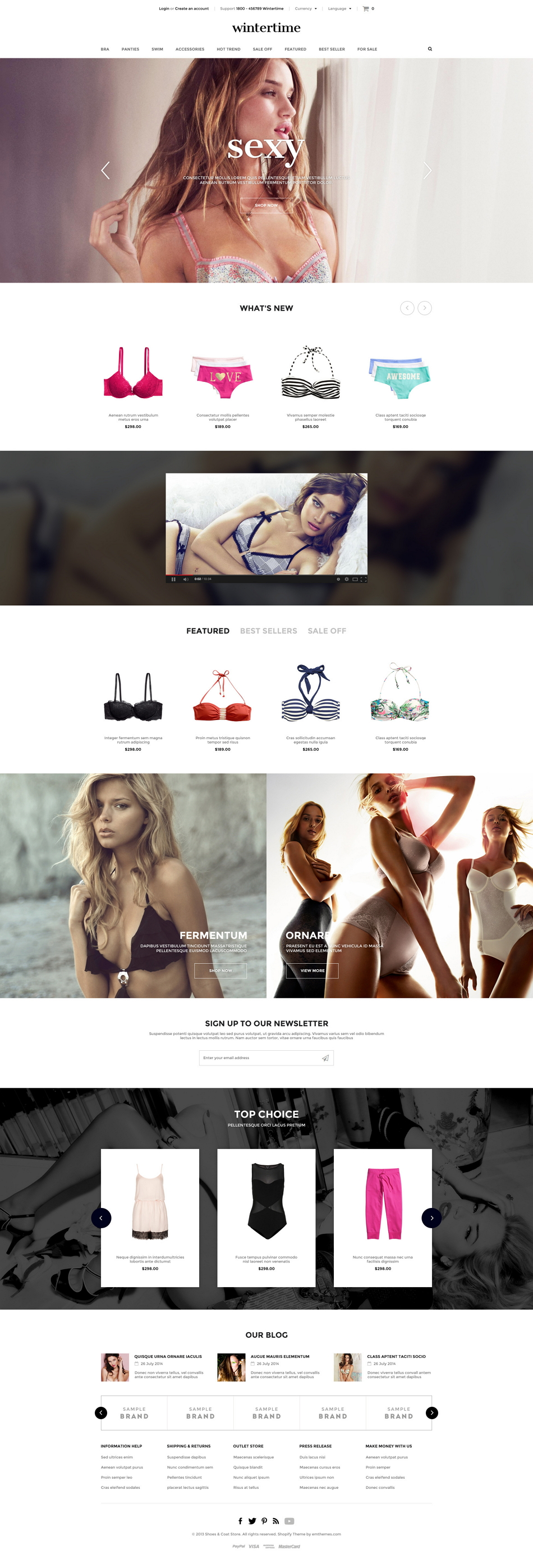 WinterTime is an new premium responsive Shopify Theme. It is suitable for any kind of online sto ...