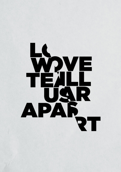 LOVE WILL TEAR US APART Art Print by Three of the Possessed