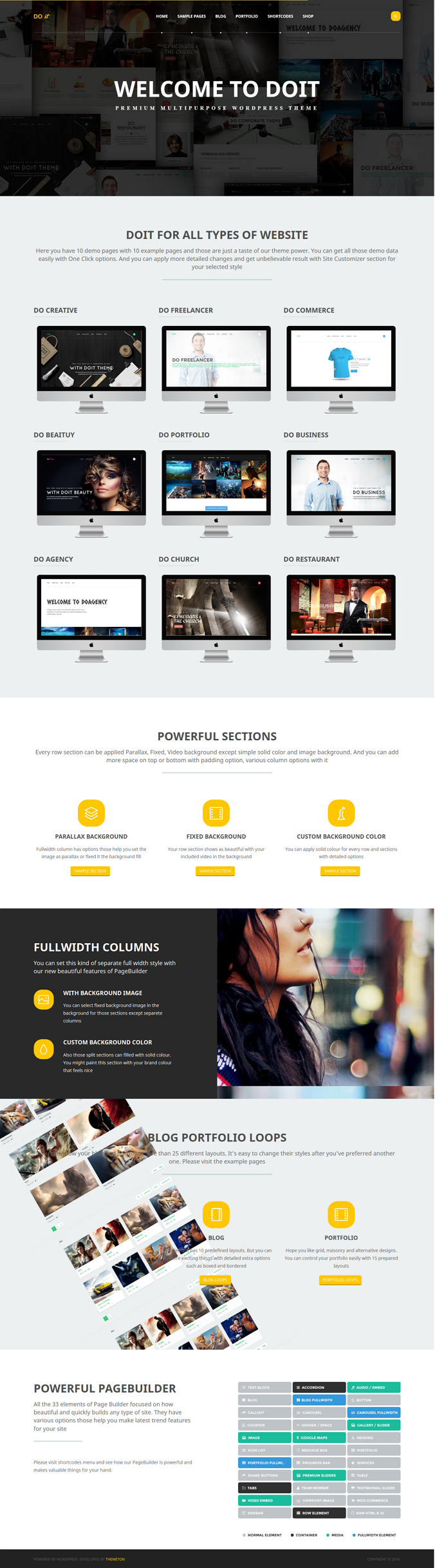 Do it is an multipurpose WordPress theme for creative, restaurant, corporate, business, church a ...