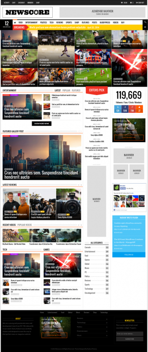 NewsCore is powerful multipurpose WordPress theme for content heavy websites such newspaper, new ...