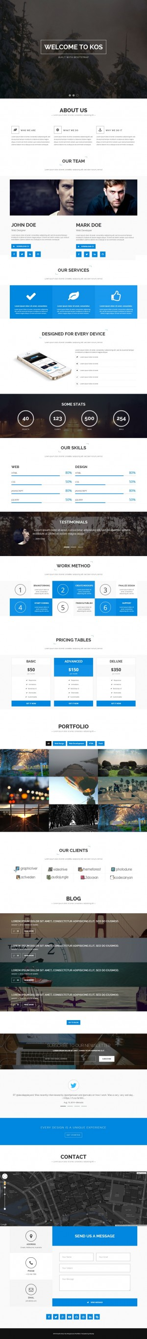 KOS is a unique Creative Portfolio Theme designed for your personal and professional use. It use ...